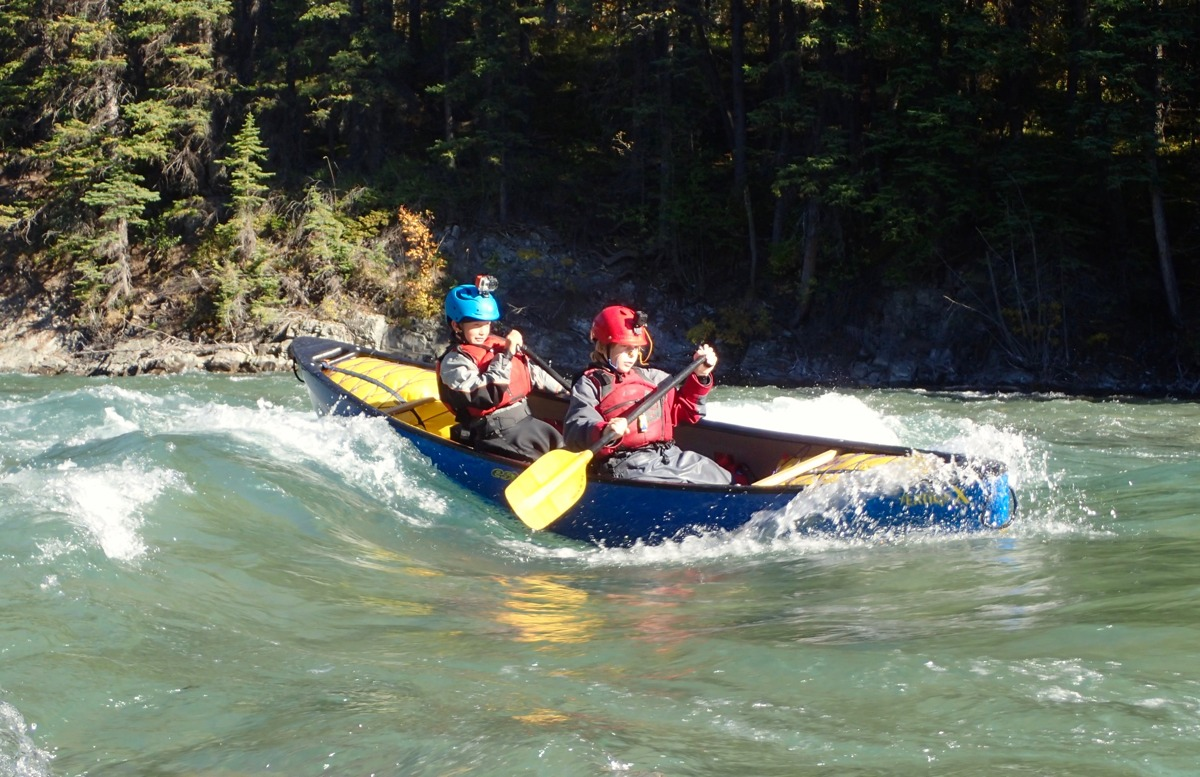 Peter Arthur - Kananaskis River near Canmore Alberta. We call the wave Lawn Chair because it is easy to go out and sit on.