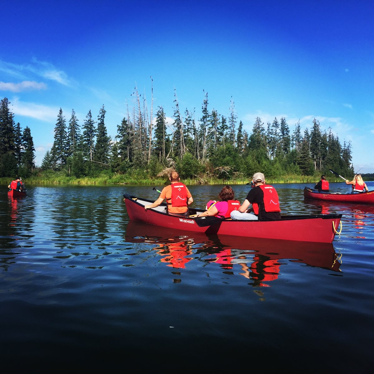 Priscilla Haskin - A family paddle at Astotin Lake, Elk Island National Park, Alberta