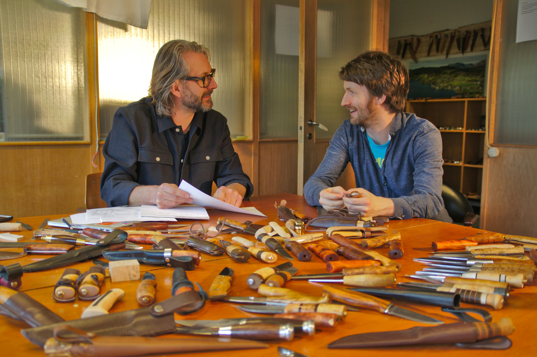 Svein-Erik at work with marketing director Anders.jpg