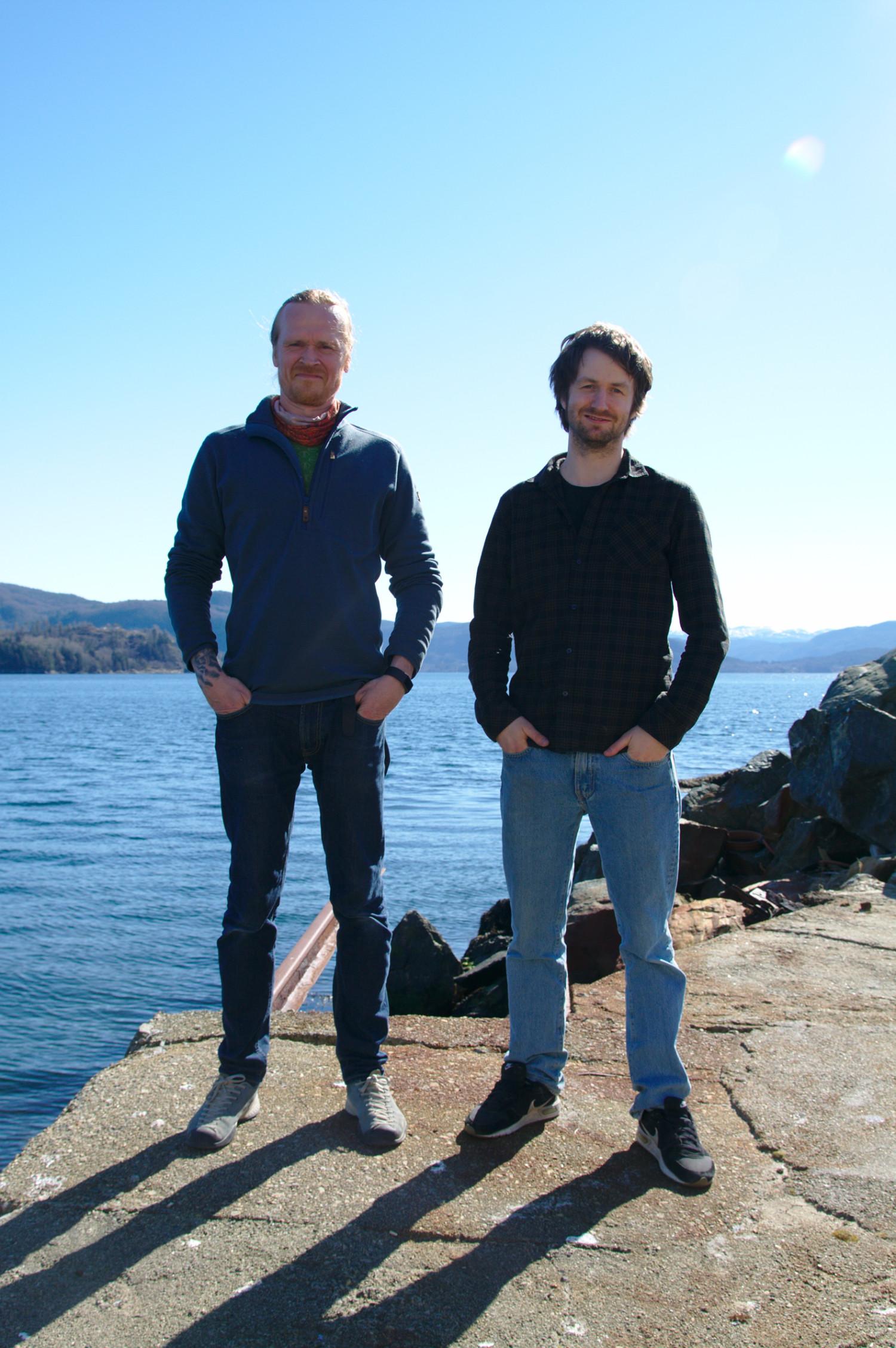Svein-Erik Helle and Jan Steffen Helle On the dock.jpg