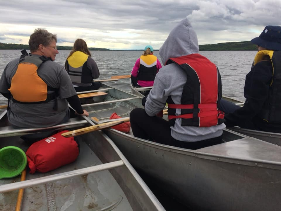 Our Girl Guides of Canada adventure Trex unit from Regina , paddling on Katepwa lake. Practicing paddling skills for our canoe trip this summer on the South Saskatchewan River. Keep your paddle wet!