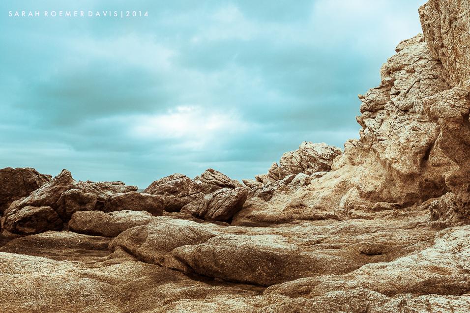 Rock formation along Chileno Bay Beach in Los Cabos, Mexico