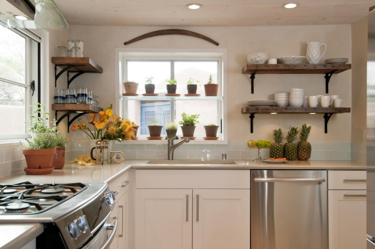 Santa Fe Modern Cottage Kitchen Interiors by Jennifer Ashton, Allied ASID, photo by Laurie Allegretti