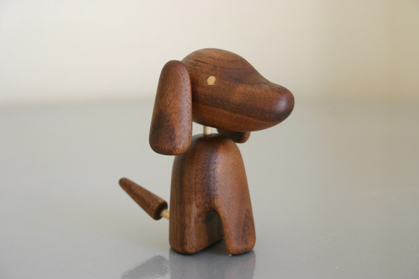 Wood Carving Object Dog