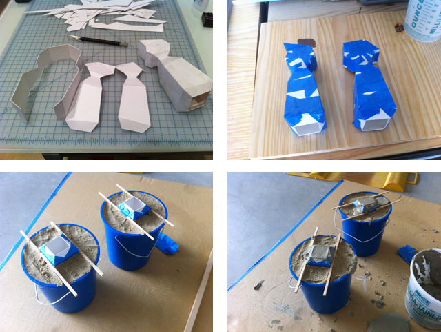3D modeled to create the cardboard mold