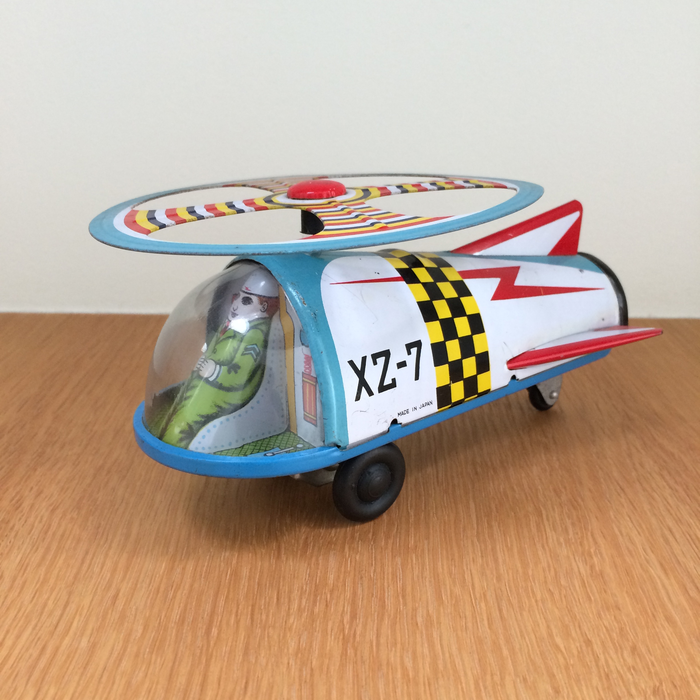 XZ-7 Space Helicopter - 1960's   ATC (Asahi Toy Co) - Made in Japan