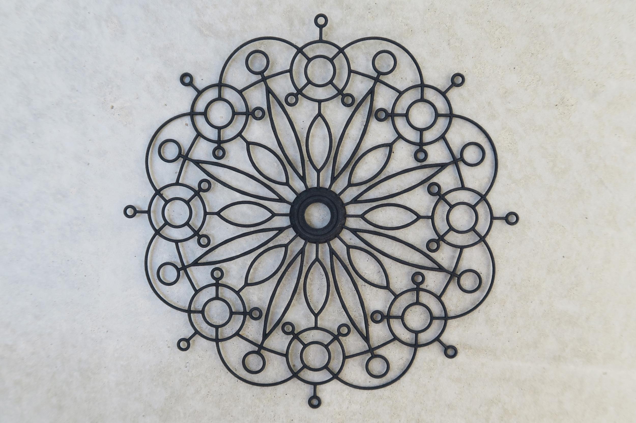 3D printed Flower Pattern Mandala 01