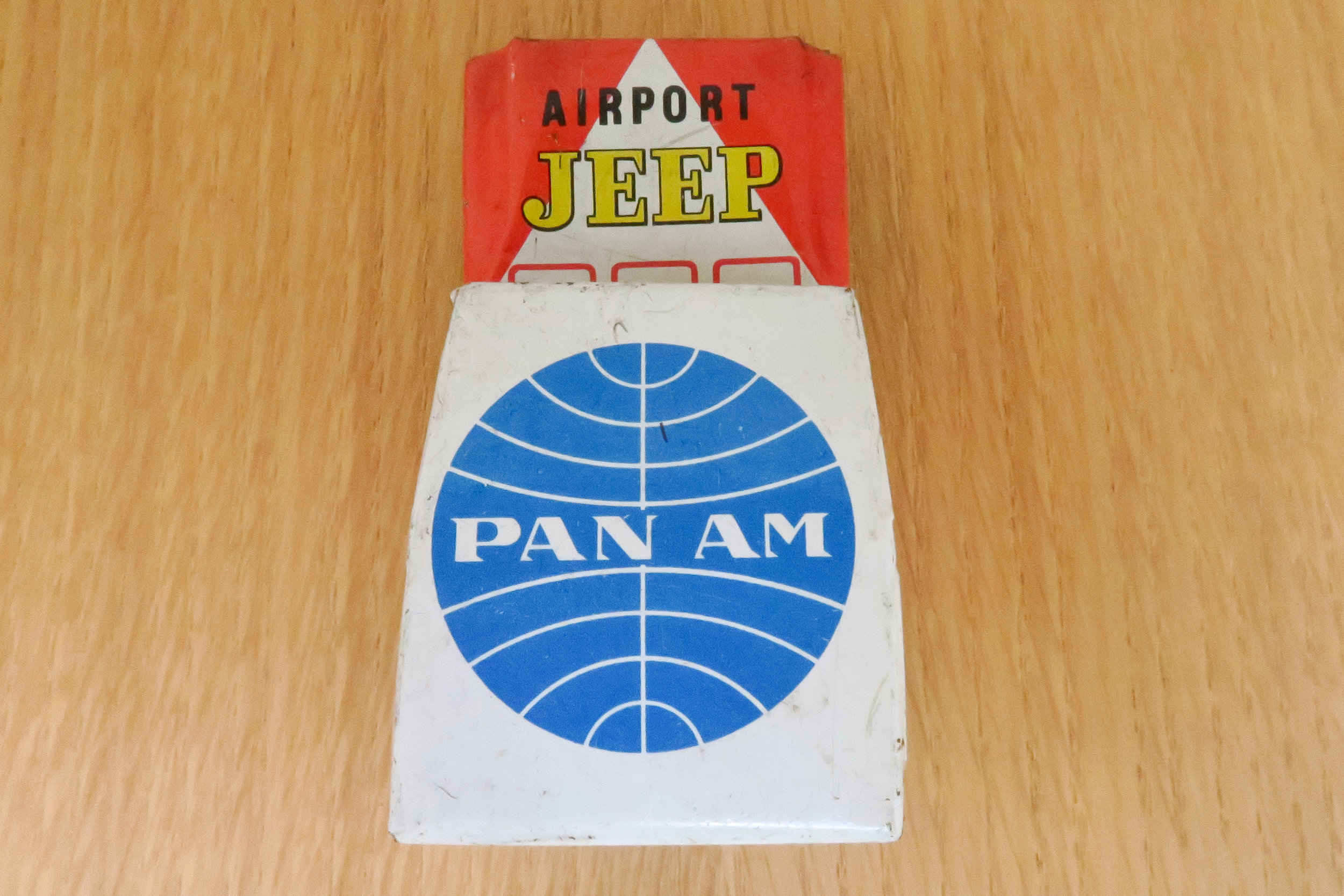 Pan Am Airport Jeep - Friction Toy