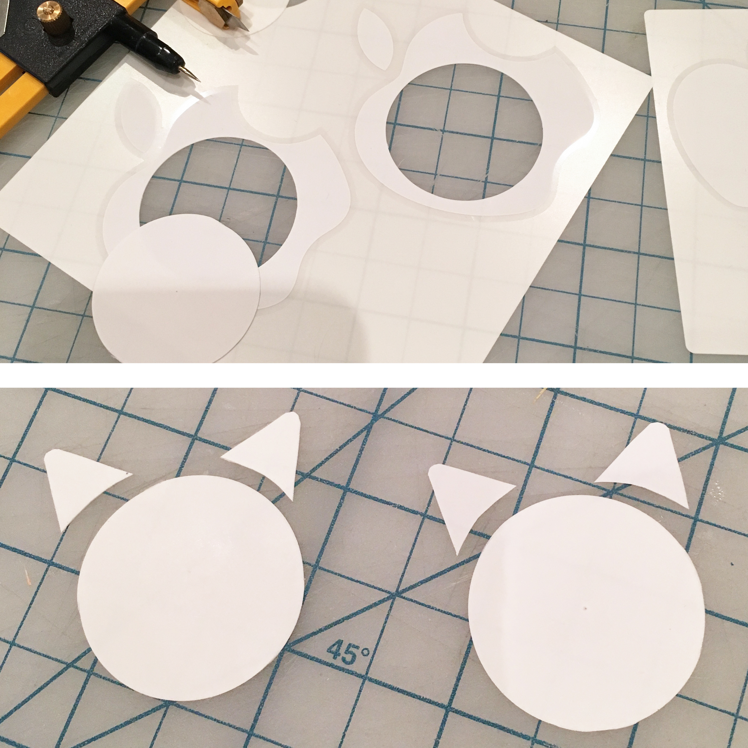 Use those Apple stickers and make a cat logo!