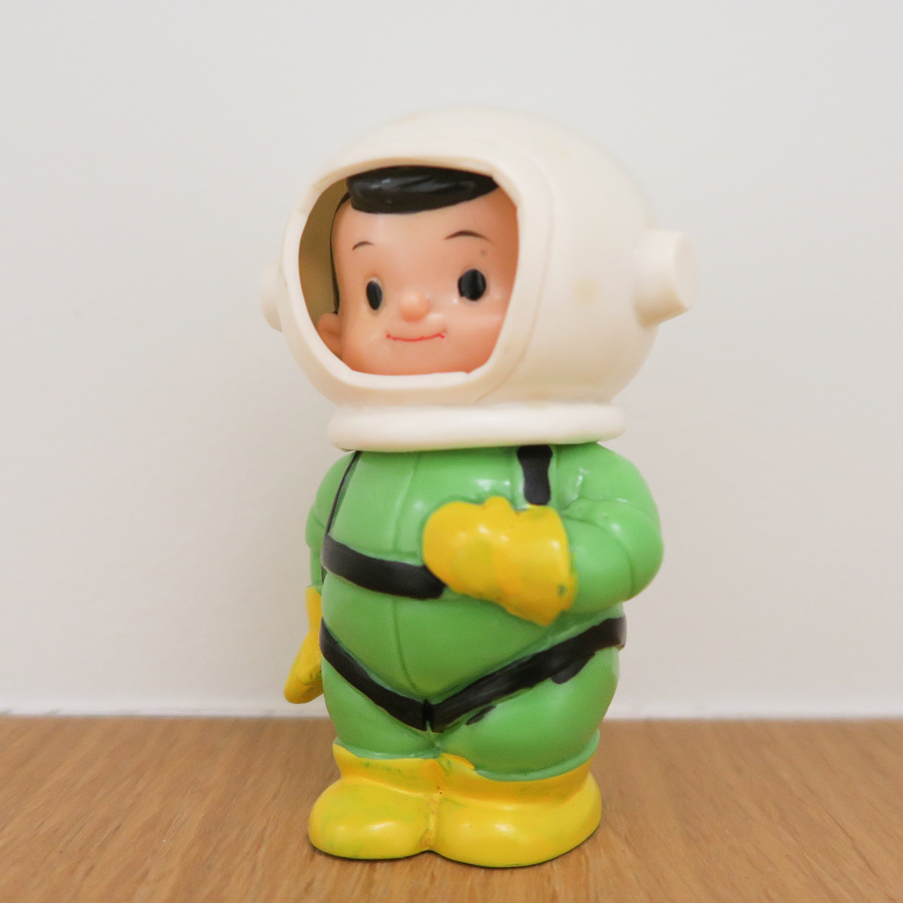"Space Boy (  宇宙坊や   ) Coin Bank 1960~   Kokumin Bank   こくぎん 国民銀行  3.9"" Tall (100mm)"