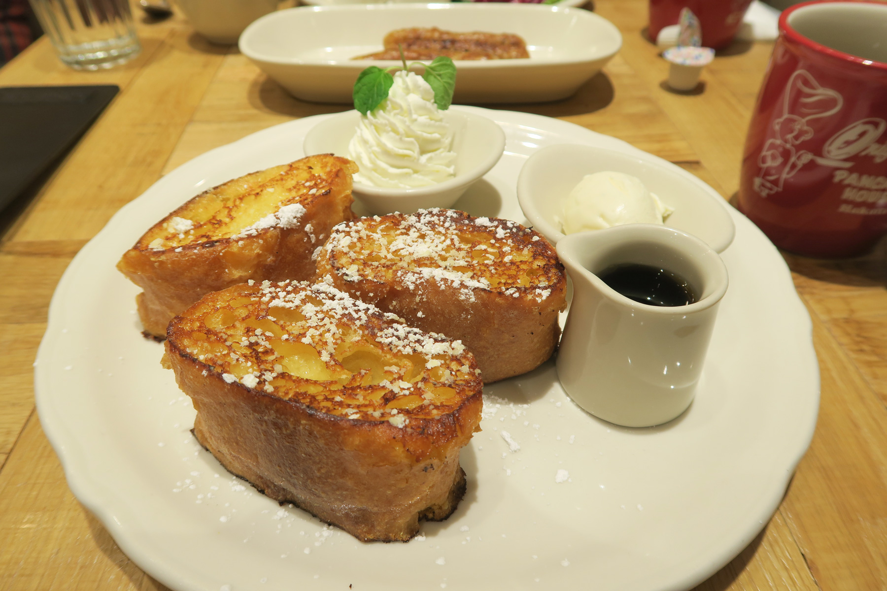 French Toast with Soft Serve Ice Cream