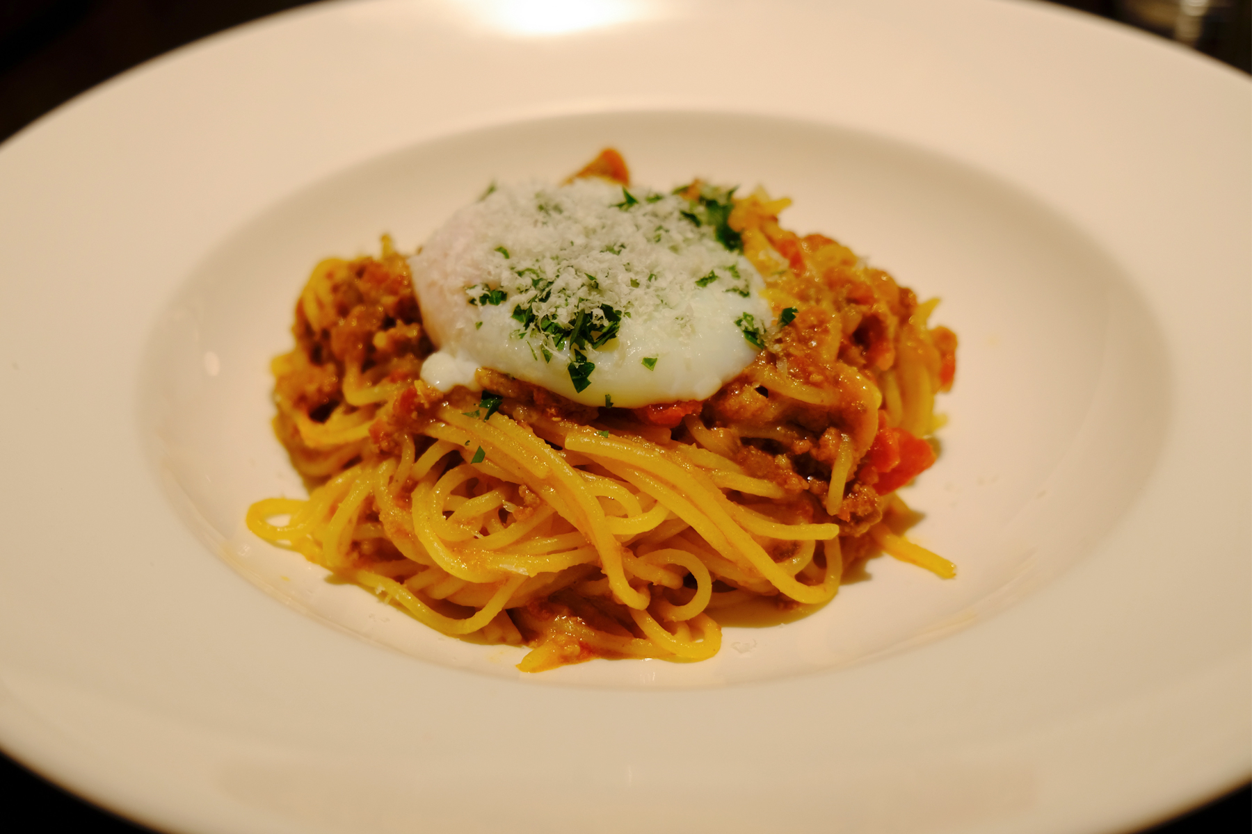 Meat Sauce Pasta with Egg