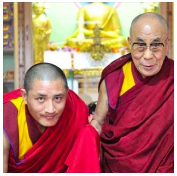 His Holiness the Dalai Lama and Tulku Lobsang Rinpoche