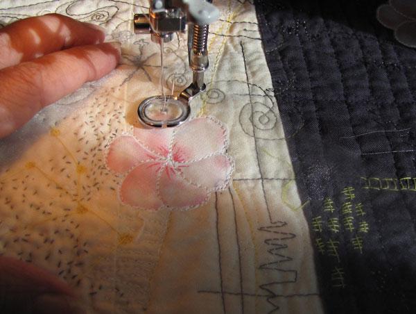 Mind map, stitching, Paula Kovarik