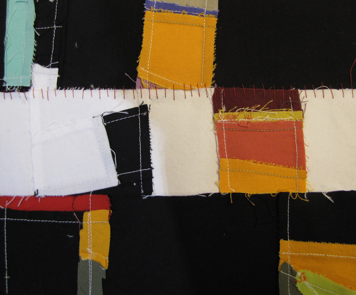 fraying edges, stitching and chaos.
