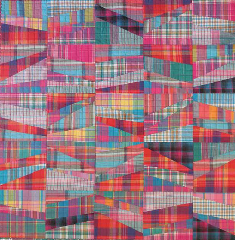 Here is one of Kathleen's rail fence quilts, this one all in plaid.
