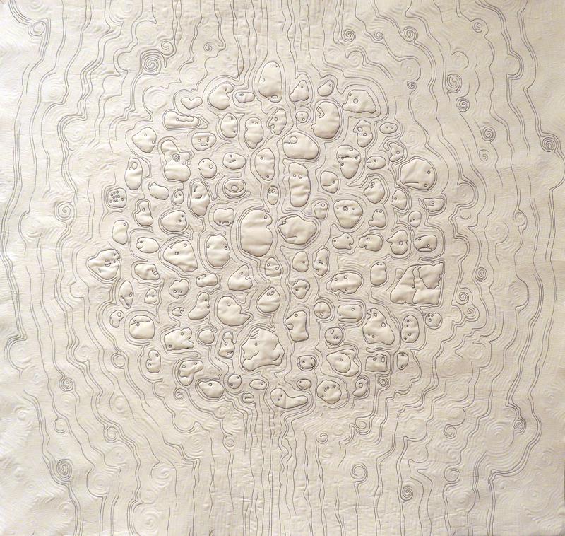 Final stitching done. Silent Witnesses, Paula Kovarik