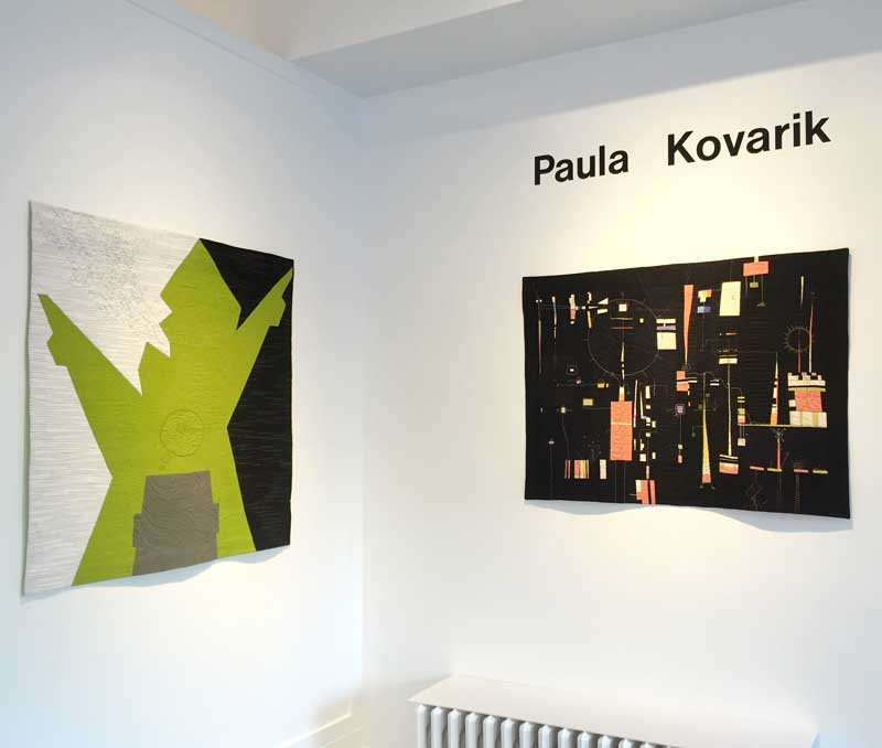 Upon entering ZIA Gallery these two pieces,  Punditocracy  and  Incoming , take center stage.