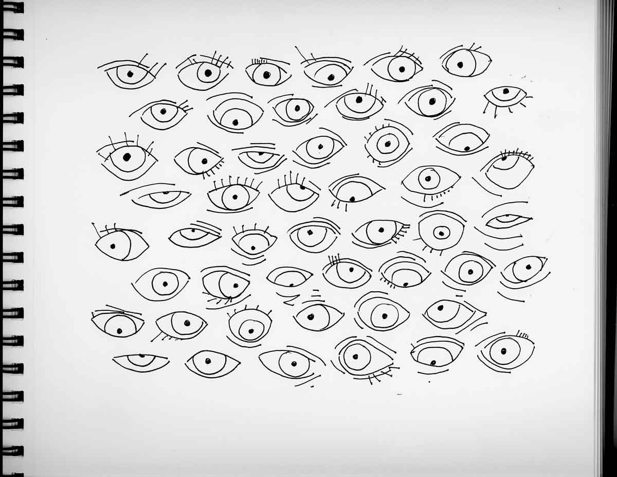 Eyes drawing, Paula Kovarik