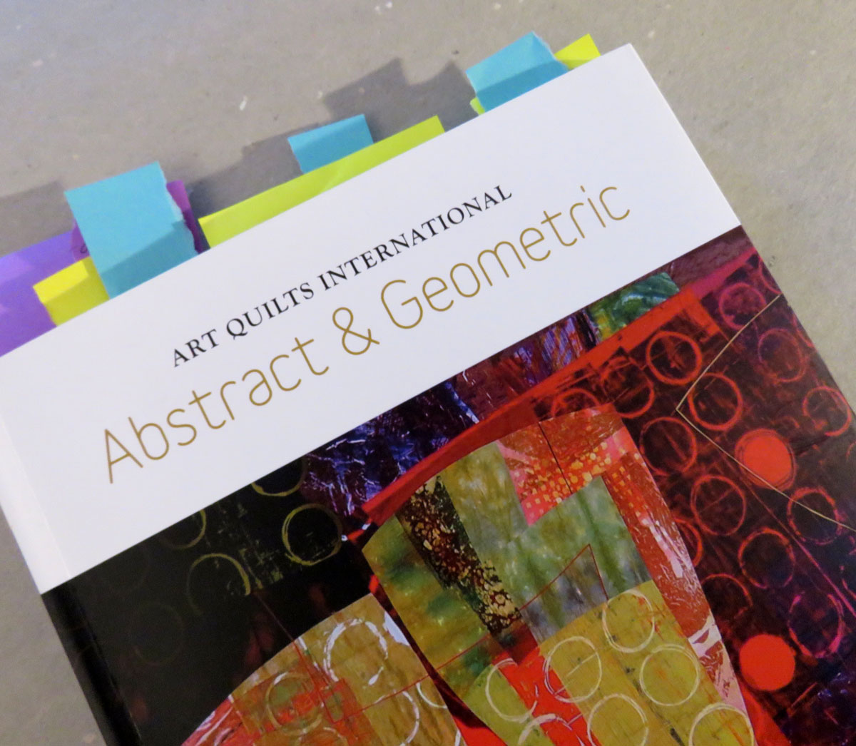 This worthy book of art quilts written and curated by Martha Sielman is a must have. That cover image is from Pat Pauly, a master of dyed and printed fabric.
