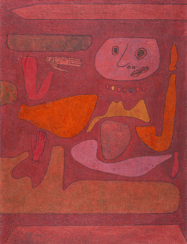 In the presence of the master.  The Man of Confusion , Paul Klee at the St. Louis Art Museum.