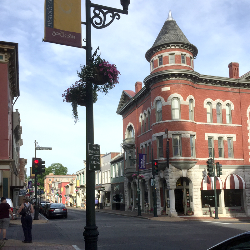 Staunton Virginia had a delightful mix of art, music and shops. They are clearly devoted to preserving their history and promoting the arts.