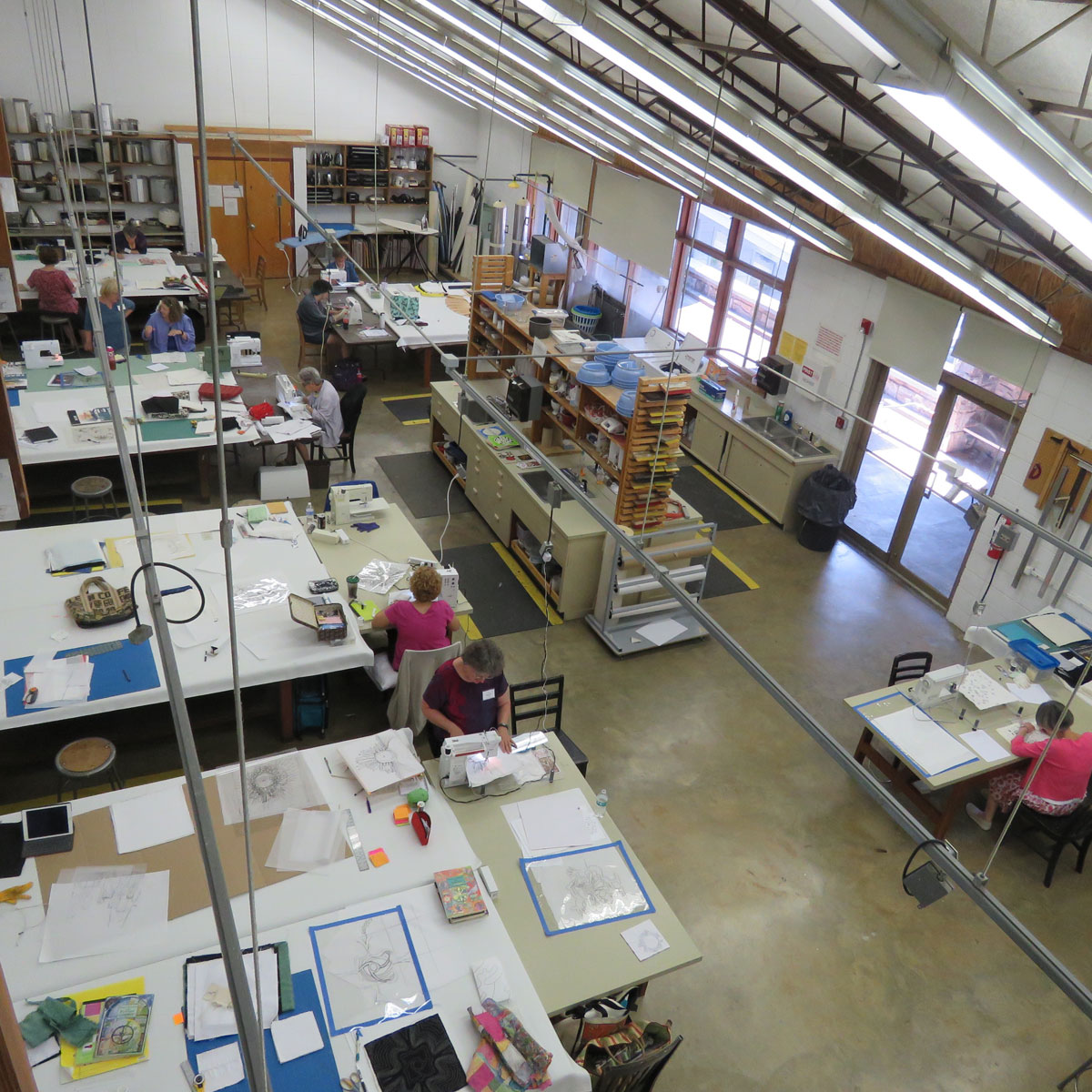 The workshops at Arrowmont allow for everyone to spread out and stretch their creative minds.