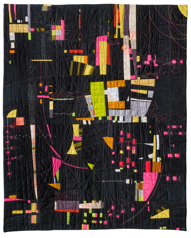 """Signals, 37"""" x 29"""", Paula Kovarik"""