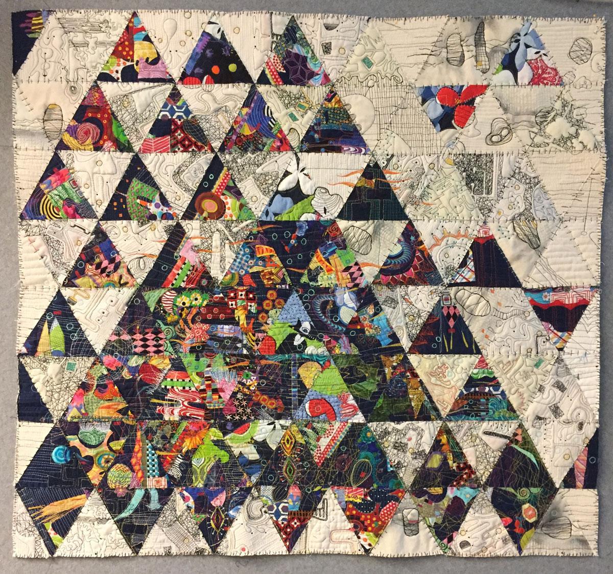 """Hive mind, Paula Kovarik, 40"""" x 43.5"""", 2019"""