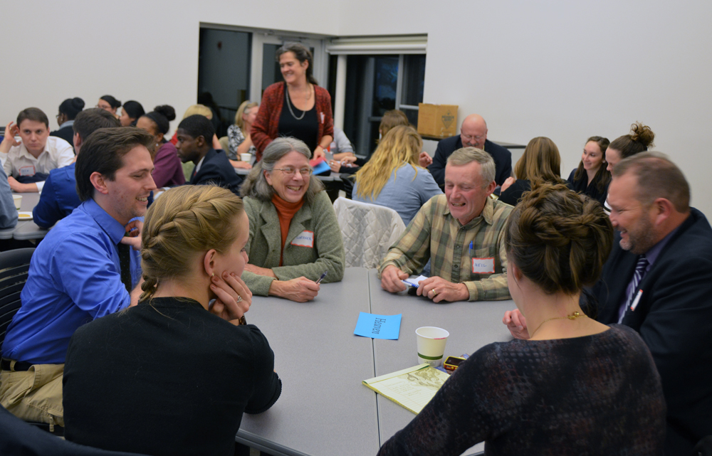 Susan Clark facilitates conversations on    Slow Democracy    at the Cooperstown (NY) Graduate Program.   Photo by   Annie Stewart-Honicker.