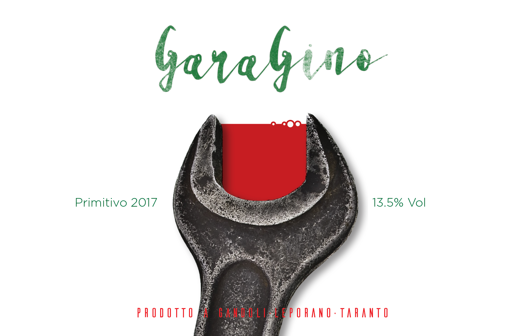 Wine labels for organic wine producer in Puglia, Italy.