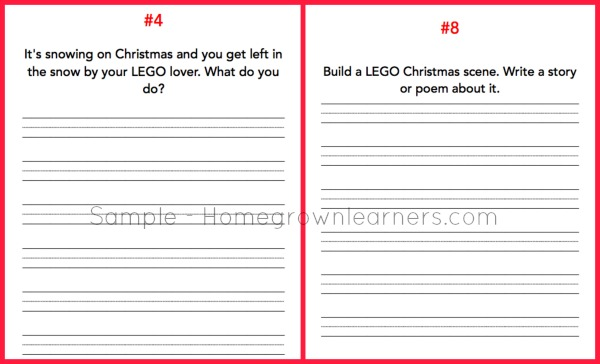 Christmas Writing Prompts.Lego Christmas Writing Prompts And Story Telling Free