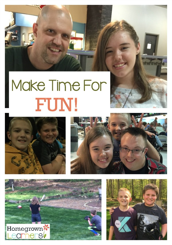 Make Time For Fun In Your Homeschool