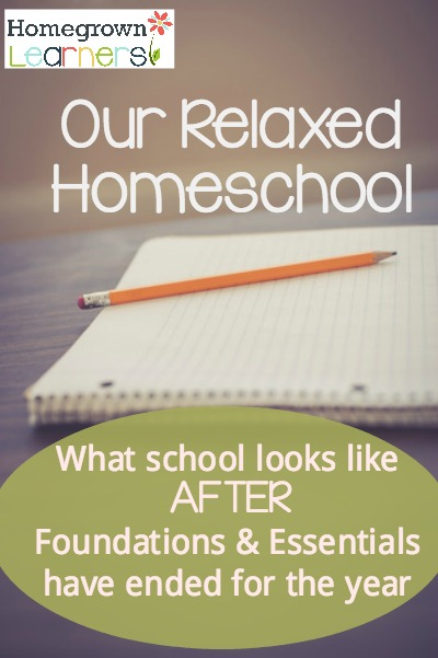 Our Relaxed Homeschool: What School Looks like After Classical Conversations has ended for the year