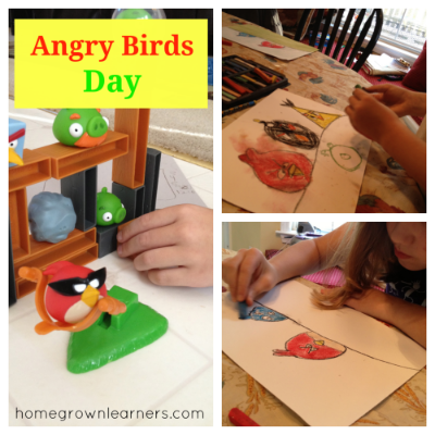 Angry Birds Chalk Pastels