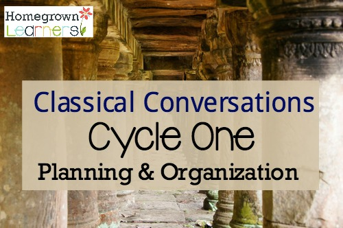 Organizing & Planning for Classical Conversations Cycle One