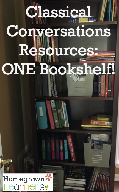 Classical Conversations/Foundations Resources:  All on ONE Bookshelf