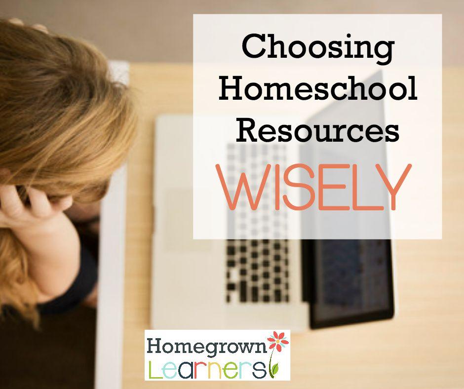 Choosing Homeschool Resources Wisely