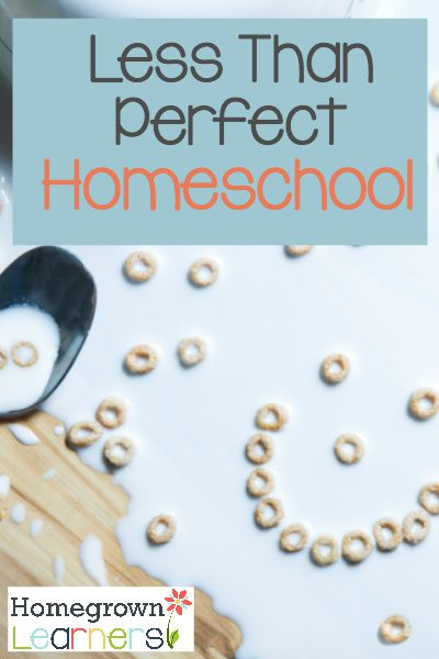 Less Than Perfect Homeschool:  When You Have to Adjust Expectations