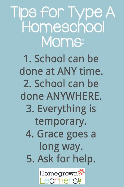 Tips for Type A Homeschool Moms:  Less Than Perfect Homeschool