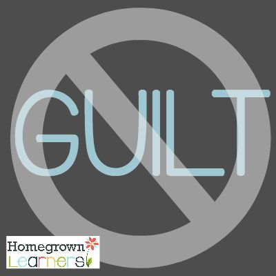 Less Than Perfect Homeschool:  Moms... don't feel the guilt!