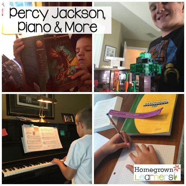 Percy Jackson, Piano & More - Collage Friday at Homegrown Learners