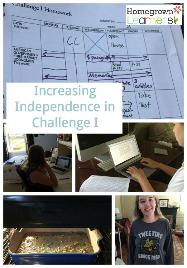 Increased Independence in Challenge I