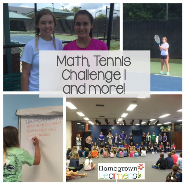 Math, Tennis, Challenge I and more -- counting our homeschool blessings!