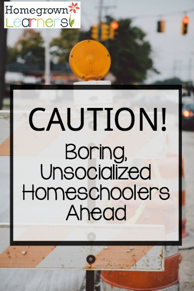 Caution! Boring, Unsocizlied Homeschoolers Ahead