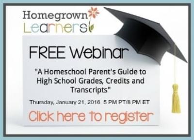 Free High School Homeschool Webinar