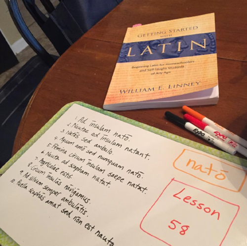 Preparing for Latin in Challenge A using Getting Started With Latin