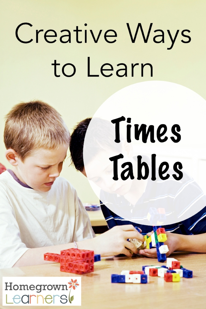 Creative Ways to Learn Times Tables