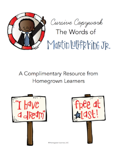 Learn About Dr. Martin Luther King, Jr. - free quotes copywork