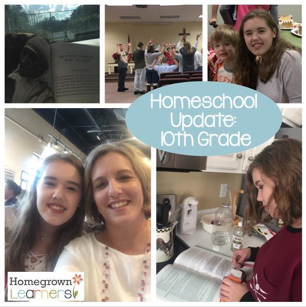 Homeschool Update - 10th Grade